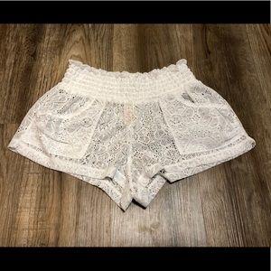 BOGO OP White Lace Shorts Swim Coverup